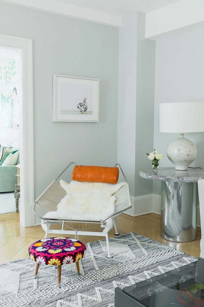 pale green entryway