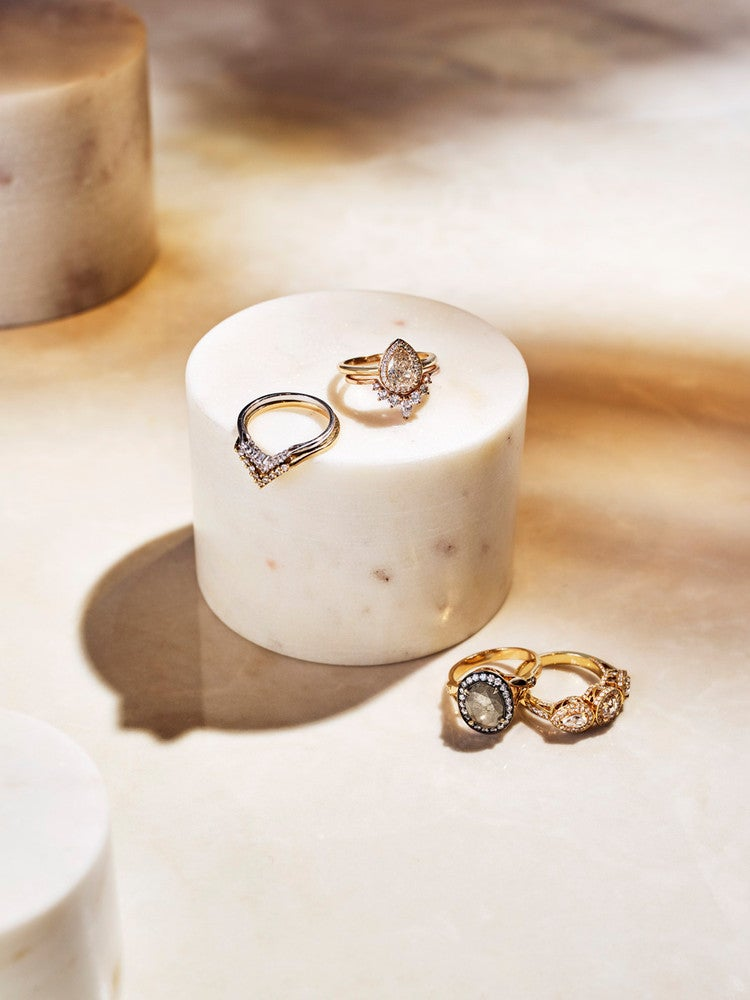 Sculptural, Stackable Engagement Rings For the Modern Bride