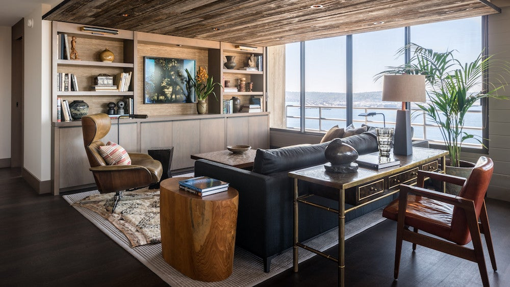 Masculine Bachelor Pad Wood Design Seattle Home Tour