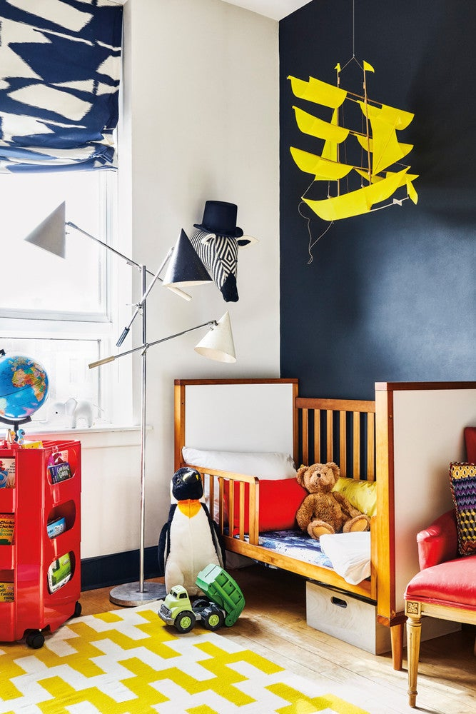 Black and White and Yellow Nursery