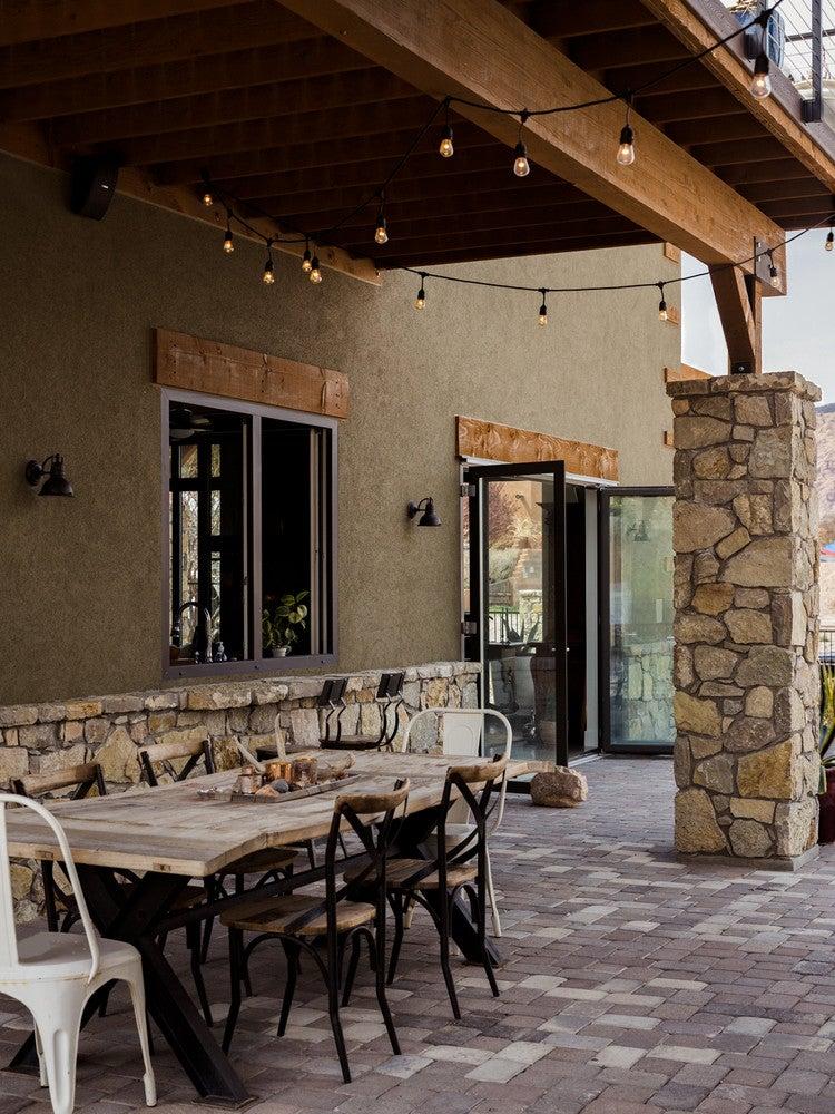 modern nevada home patio desert views