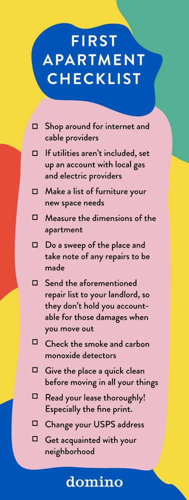 First Apartment Checklist – What To Know Before Moving In