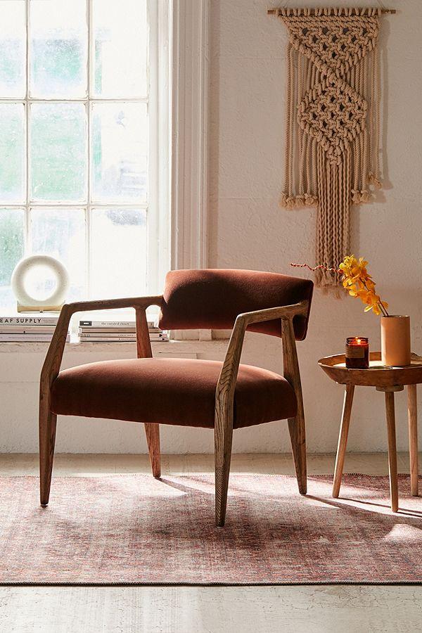 Burgundy armchair