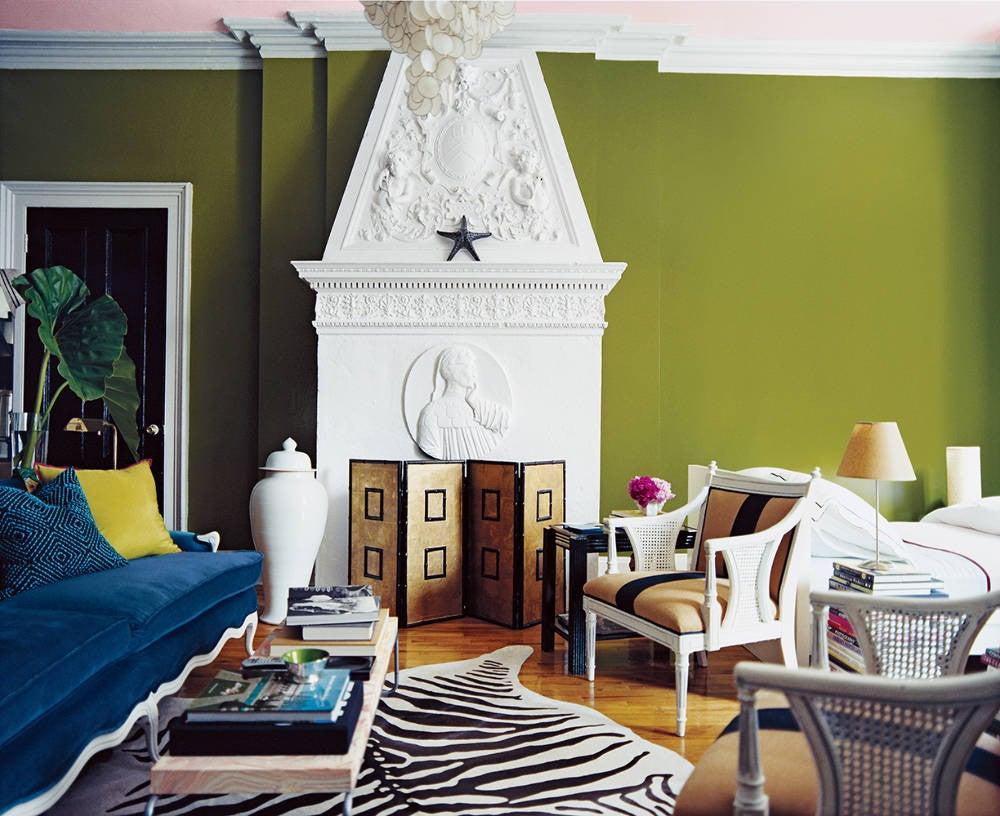 Nick Olsen Green Living room