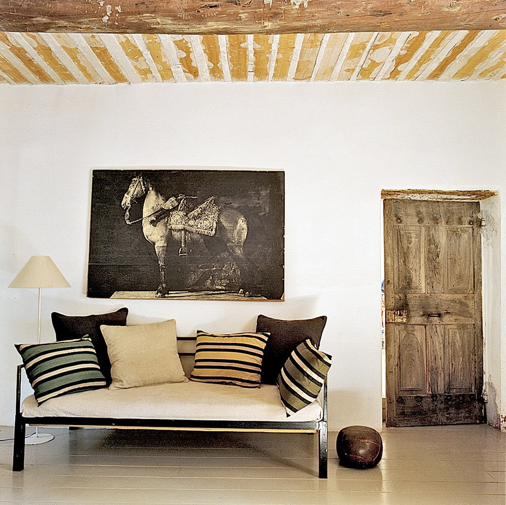 Black and Brown and Taupe and Wood Living room