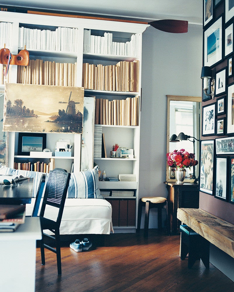 Blue and White Office