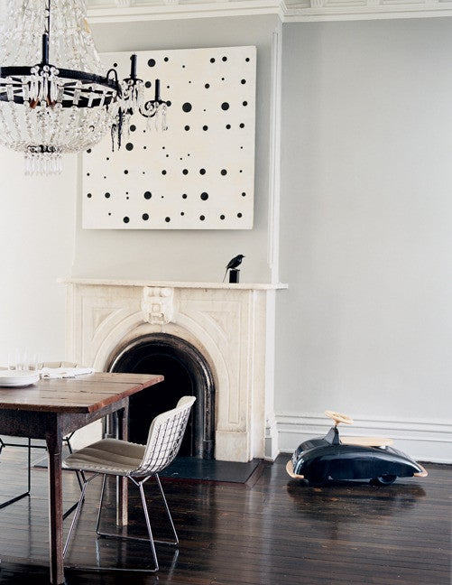 Jenna Lyons Black and Gray and White Dining room