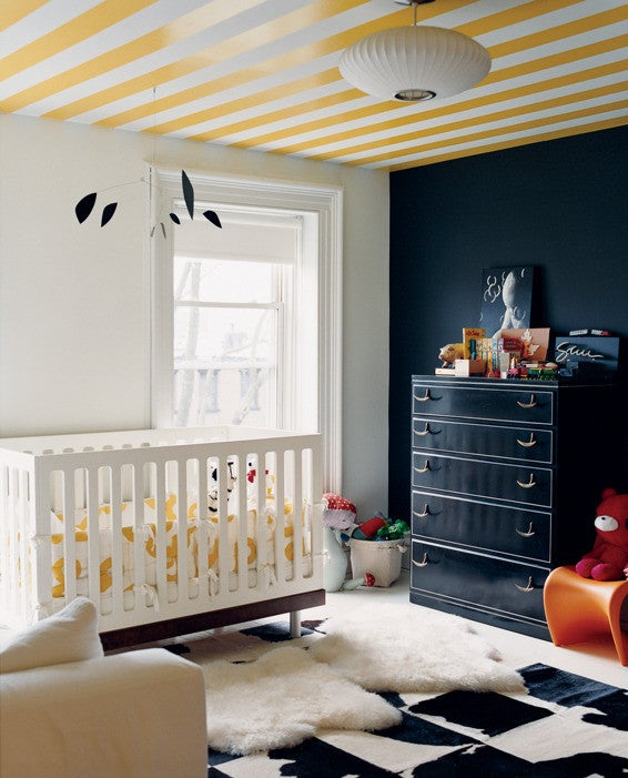 Jenna Lyons Black and White and Yellow Kid's room