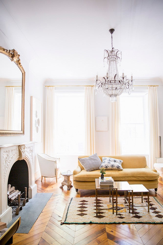West Village Townhouse Alison Cayne Taupe Living room