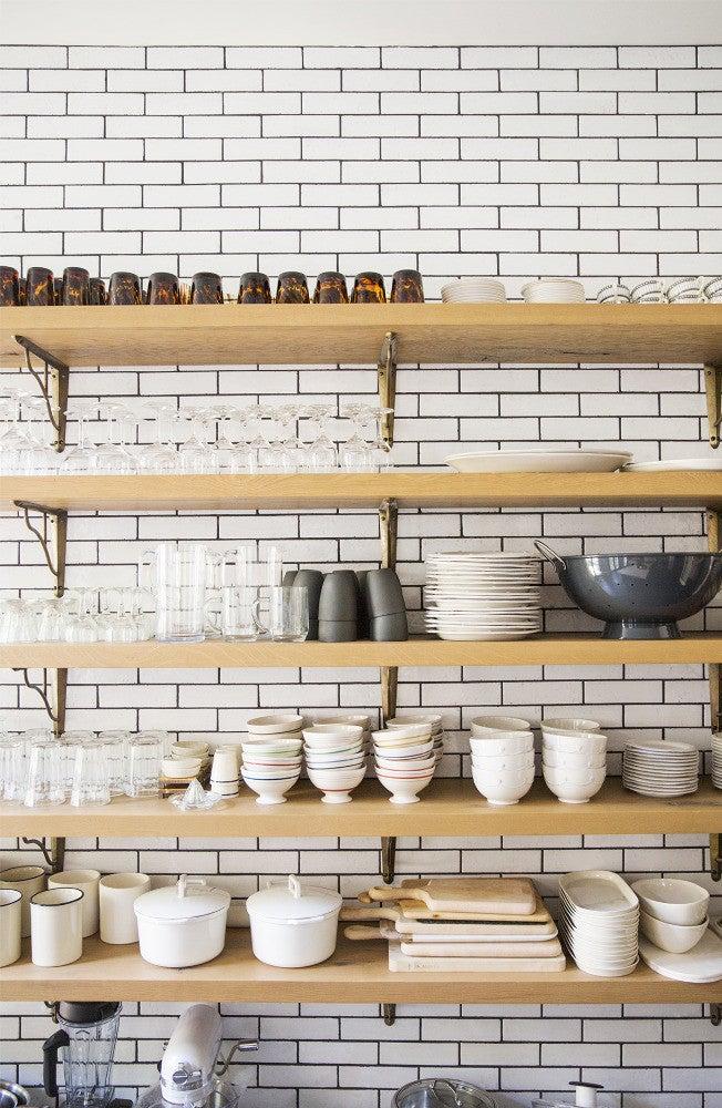 West Village Townhouse Alison Cayne Taupe Kitchen