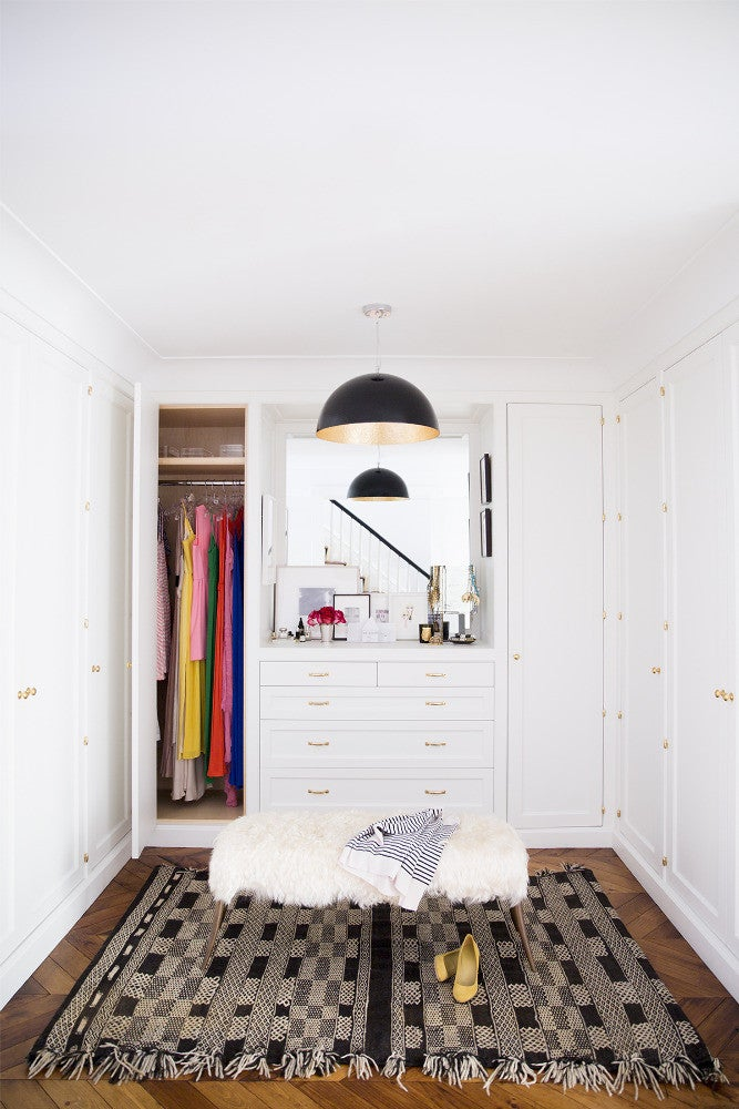 West Village Townhouse Alison Cayne White Dressing room