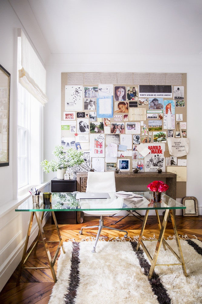 West Village Townhouse Alison Cayne White Office