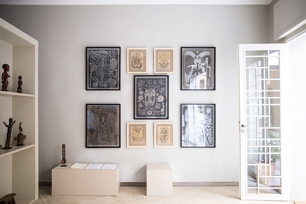 Gray and White Gallery Wall