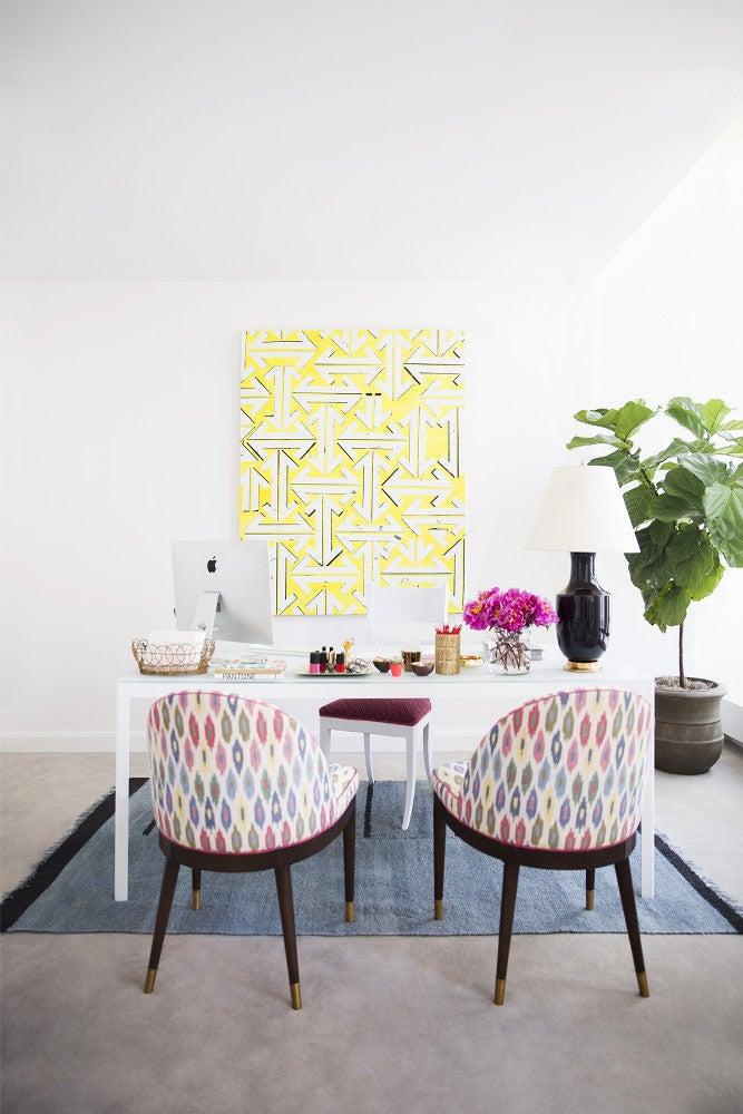 Eva Chen White and Yellow Office