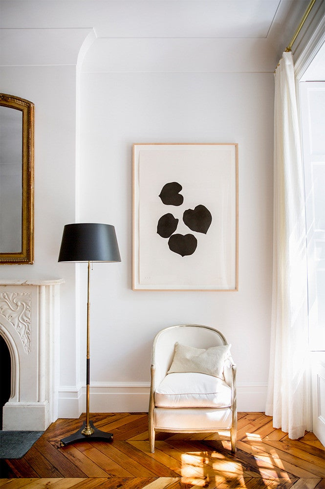 West Village Townhouse Alison Cayne White Living room