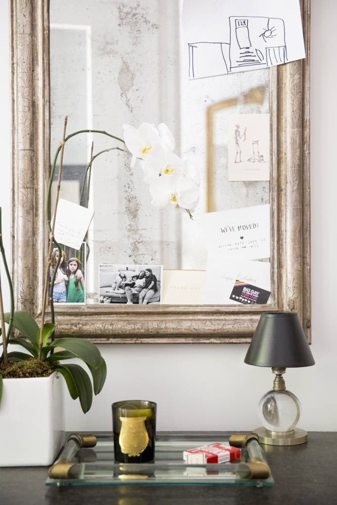 West Village Townhouse Alison Cayne Clear and Gold Entryway