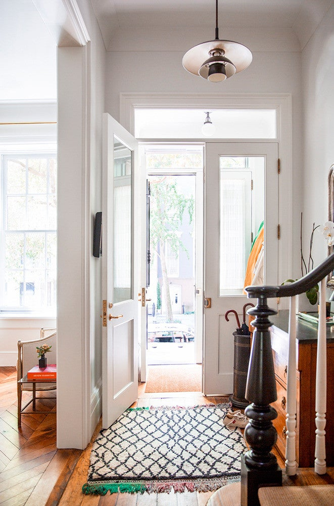 West Village Townhouse Alison Cayne White Entryway
