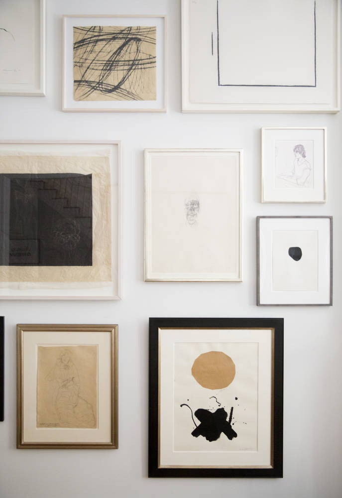 West Village Townhouse Alison Cayne Black and White Gallery Wall