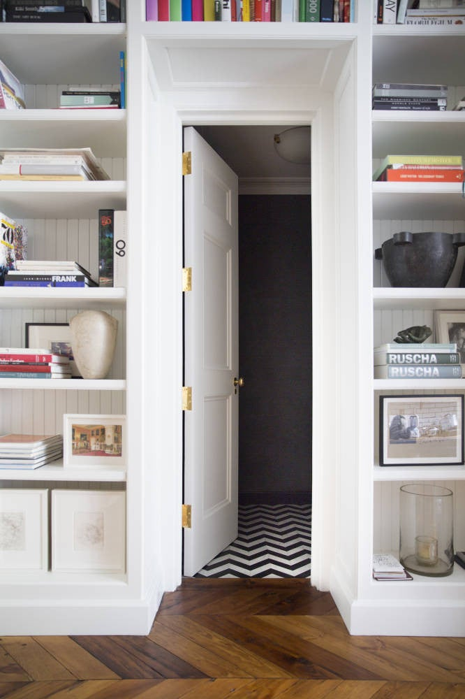 West Village Townhouse Alison Cayne White Home library