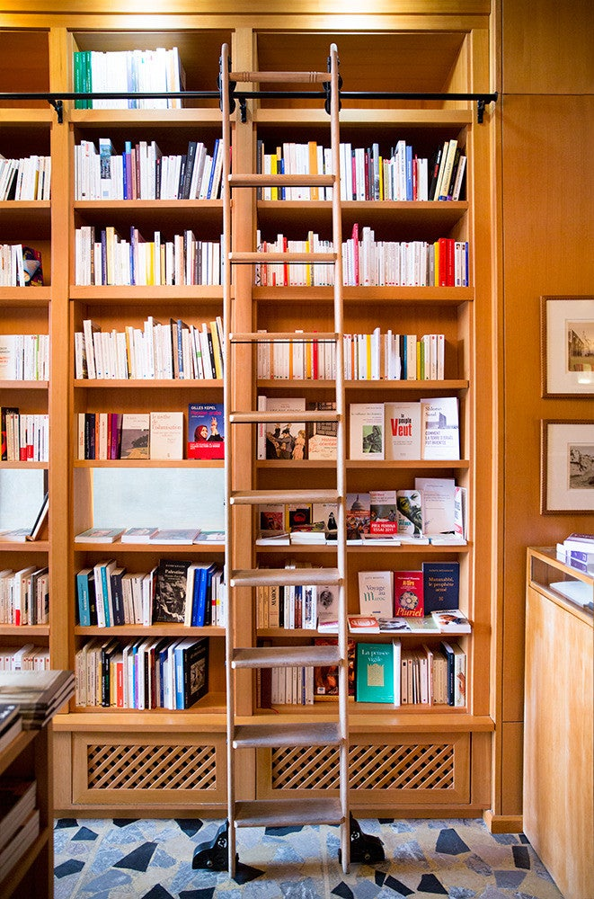 Wood Home library