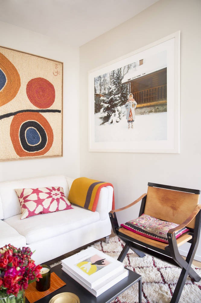 Orange Gallery Wall