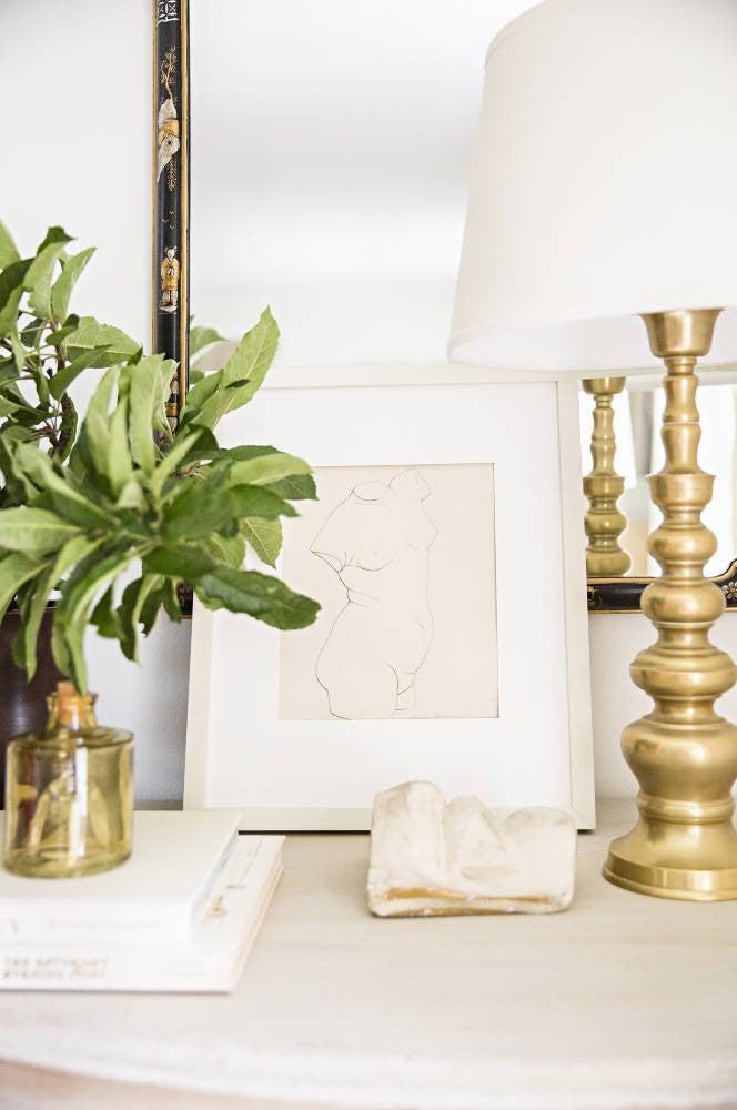 Gold and White Vignette