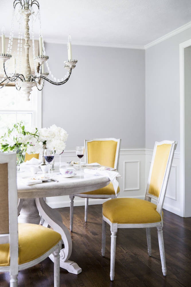 White and Yellow Dining room