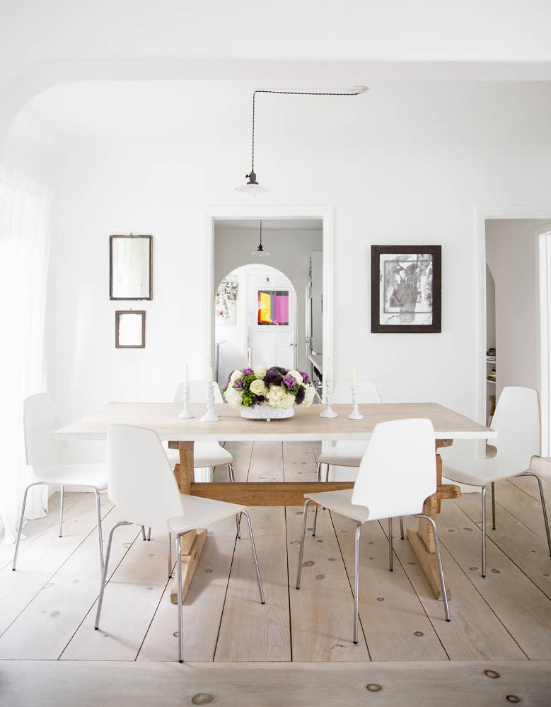Anne Ziegler White and Wood Dining room