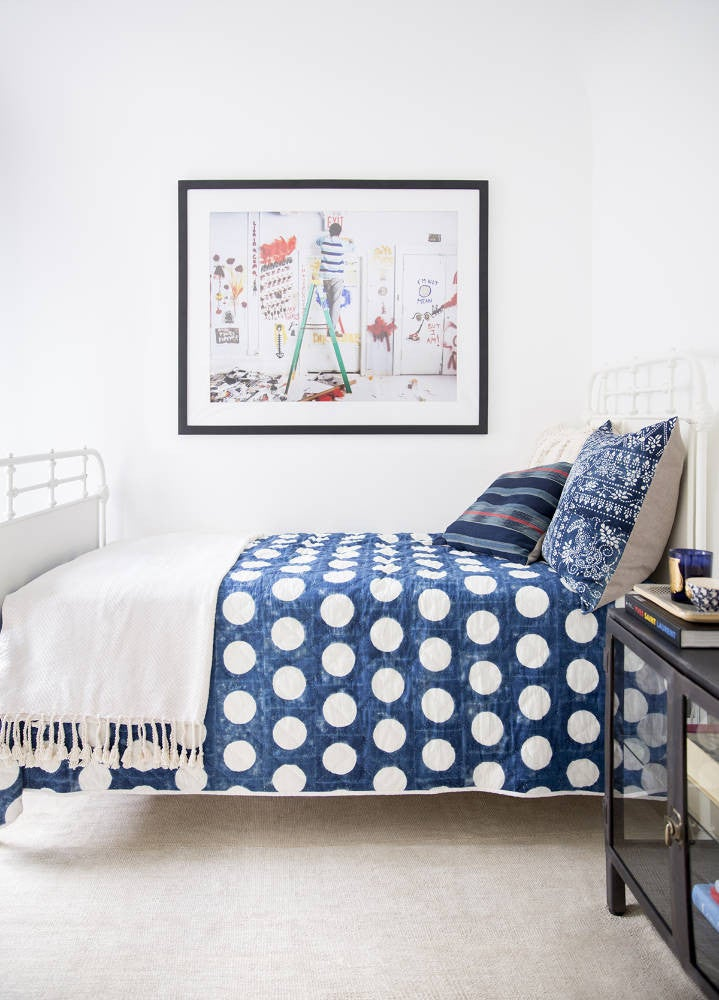 Anne Ziegler White and Blue Bedroom