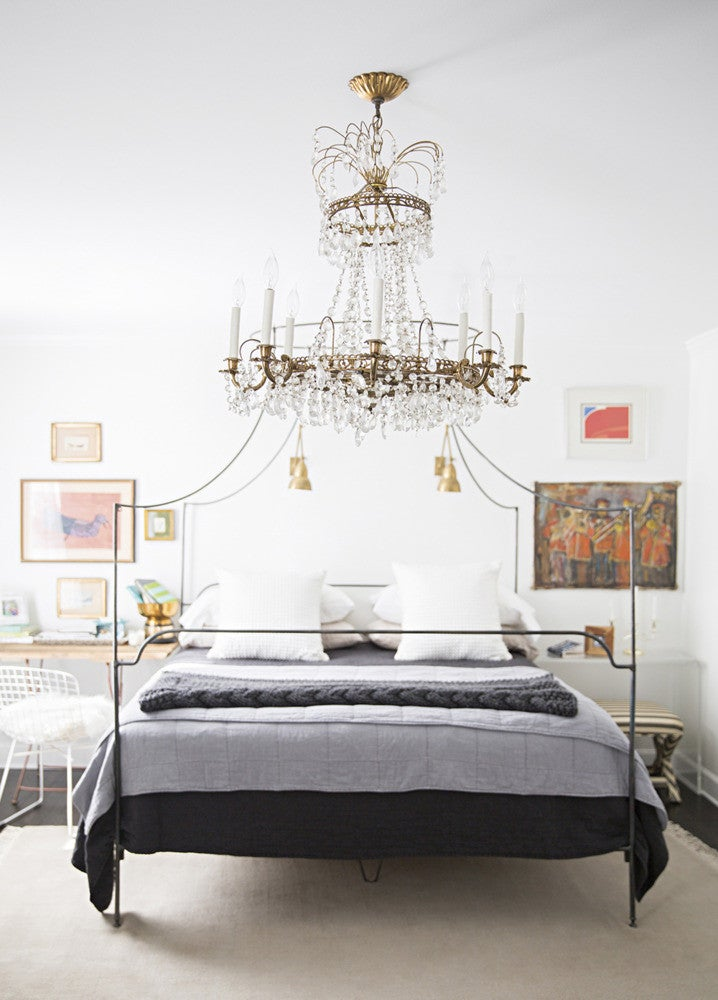 Clear and Gray and White Bedroom