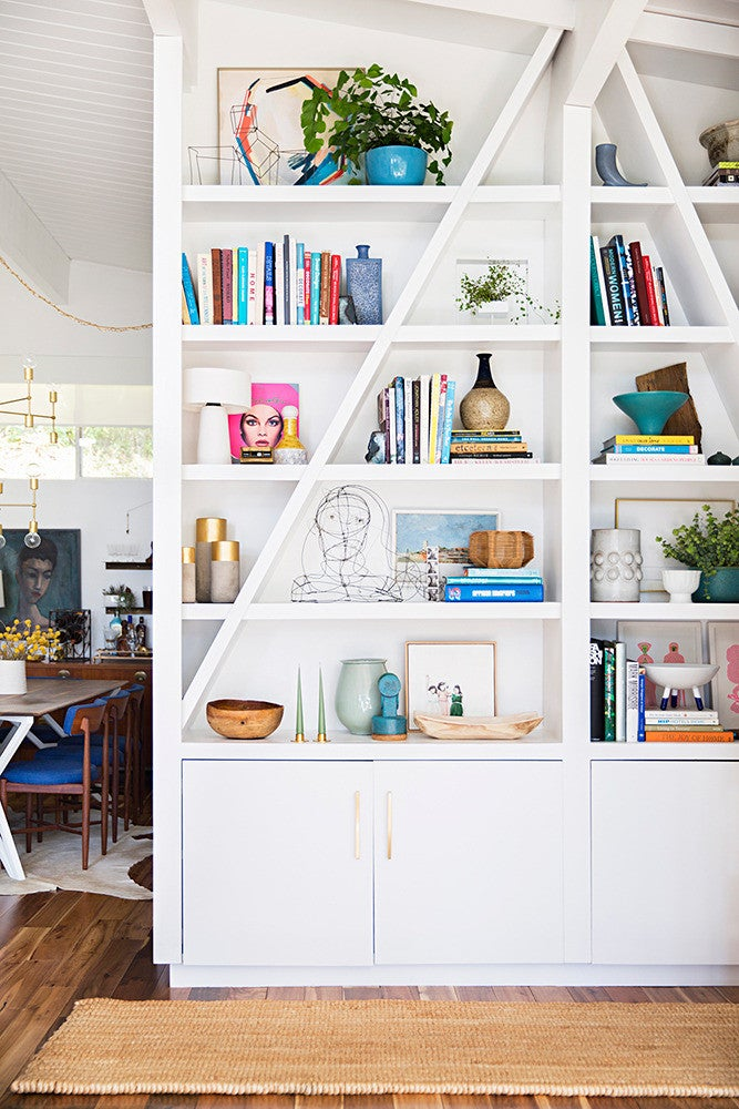 Emily Henderson Home Tour White and Wood Study