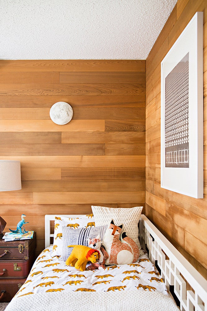 White and Wood Kid's room