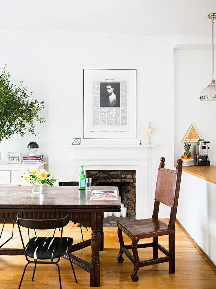 White and Wood Dining room