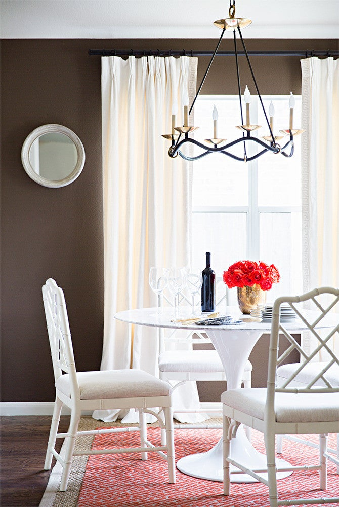 Brown and White Breakfast room