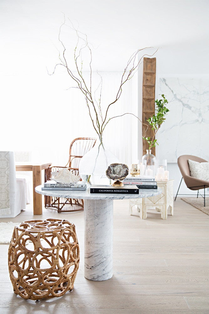 Taupe and White Dining room