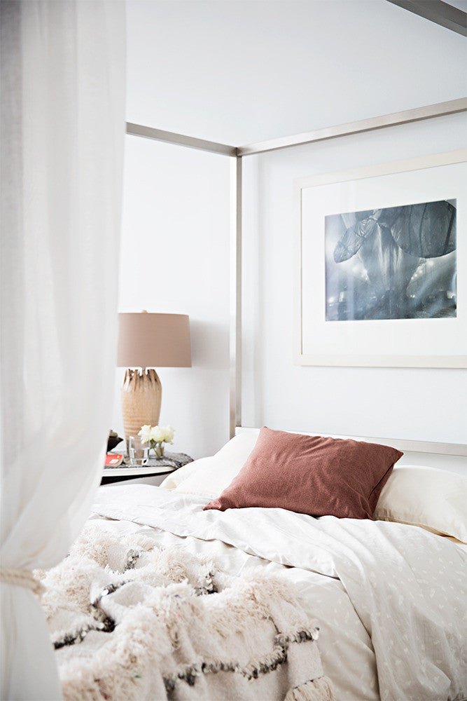 Brown and Taupe and White Bedroom