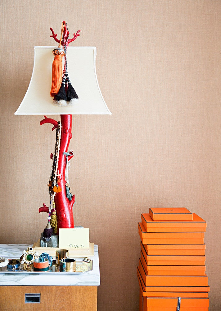Orange and Red and Taupe Vignette