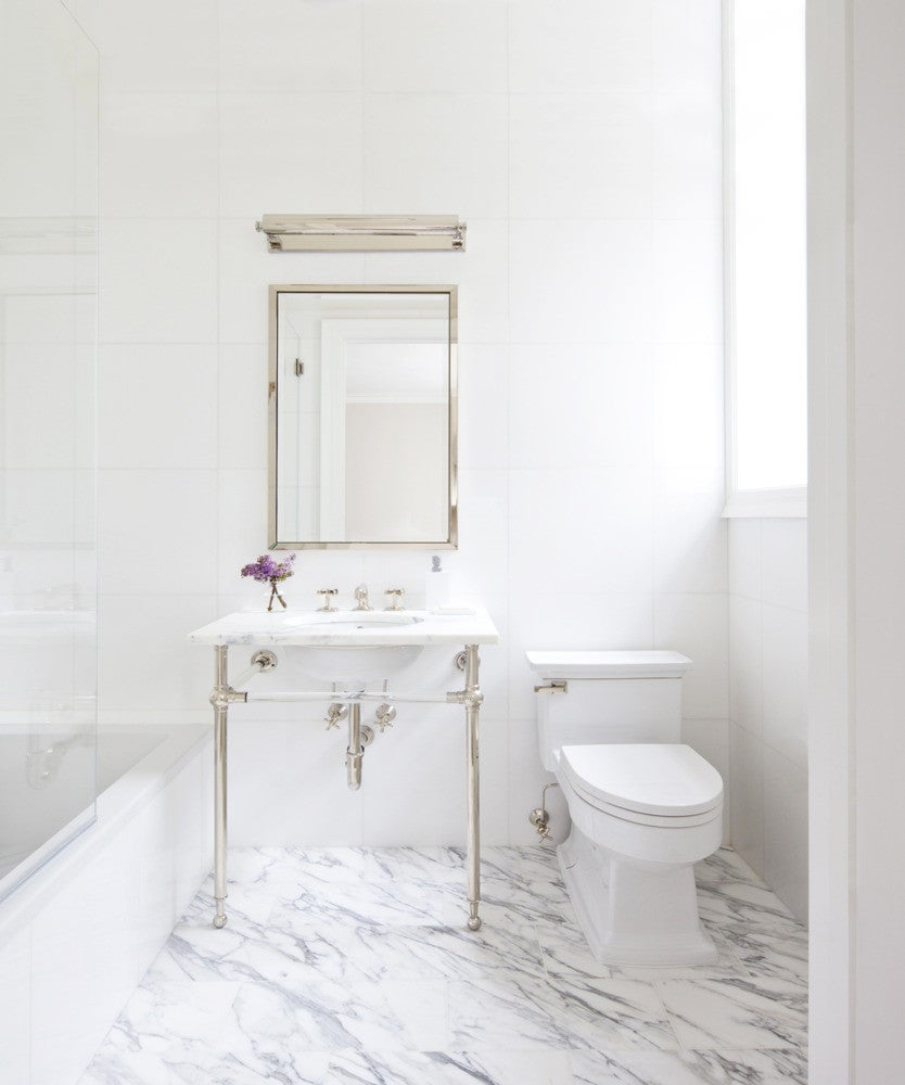 How To Master The Perfect White Marble Bathroom Domino