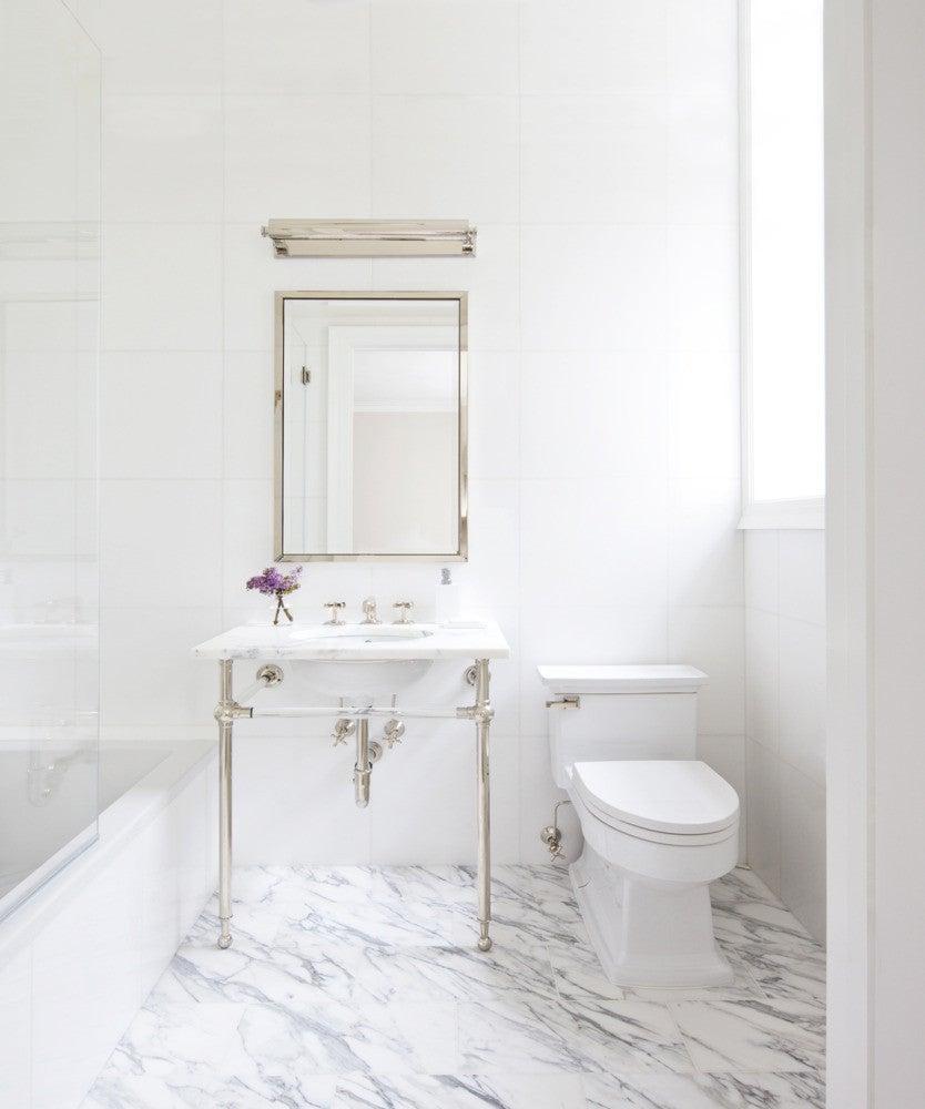 how to share a tiny bathroom