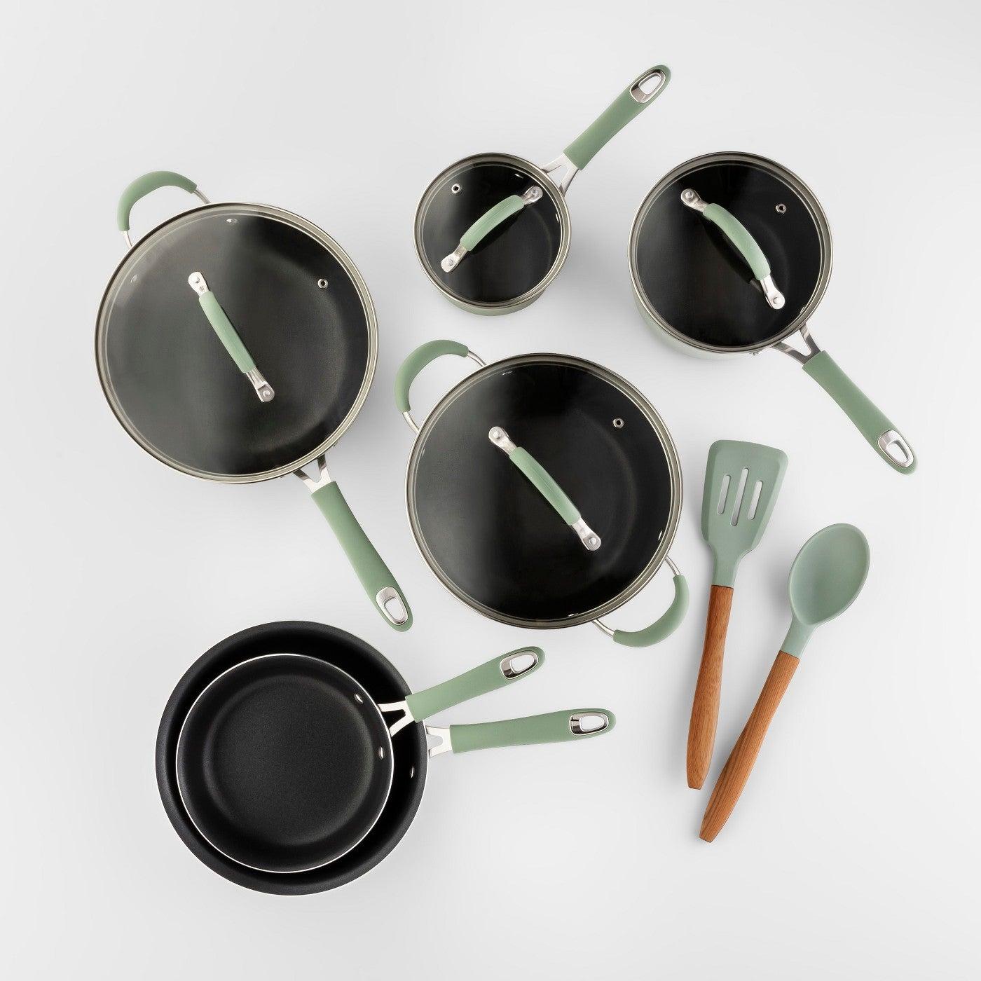 green cookware set