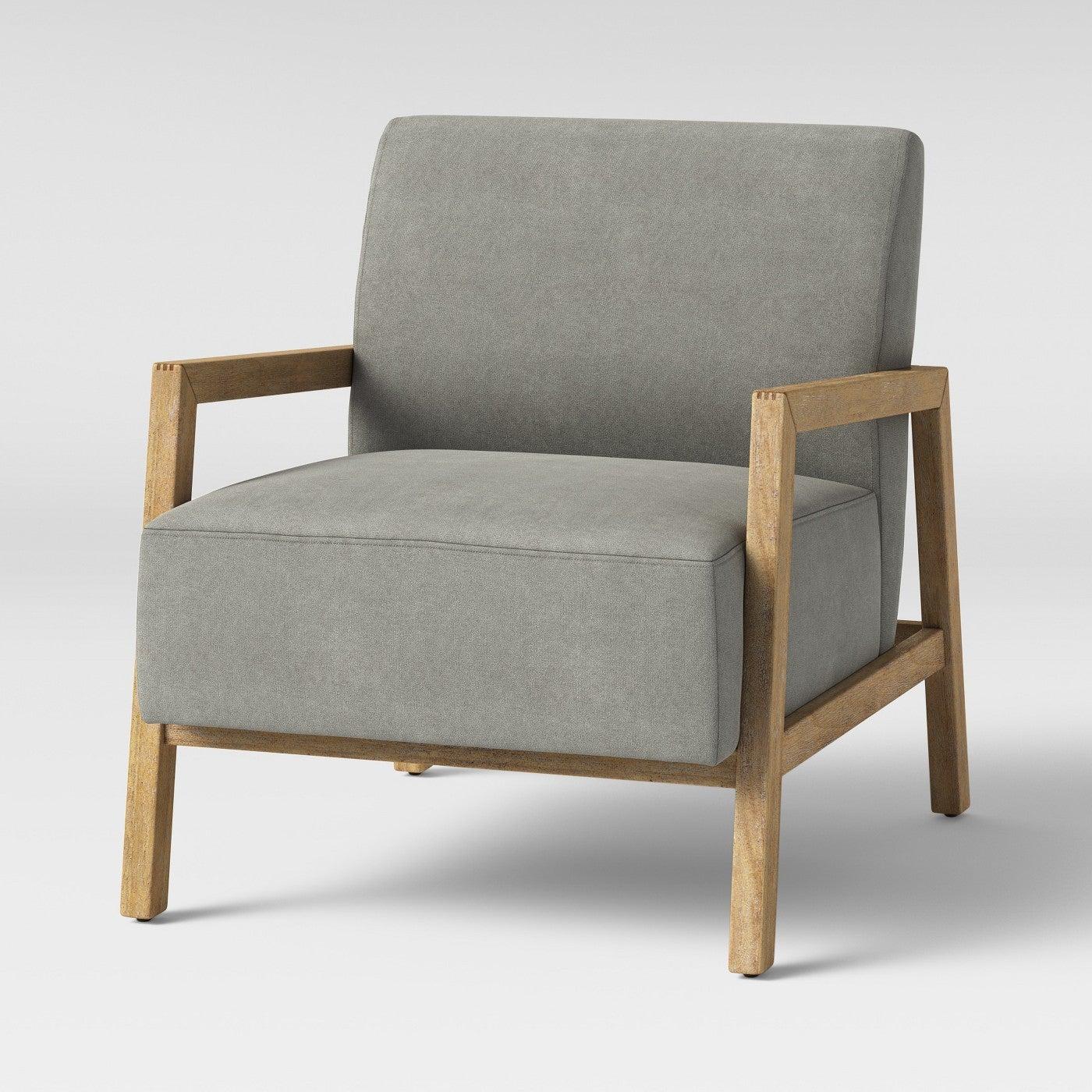 grey scandinavian armchair