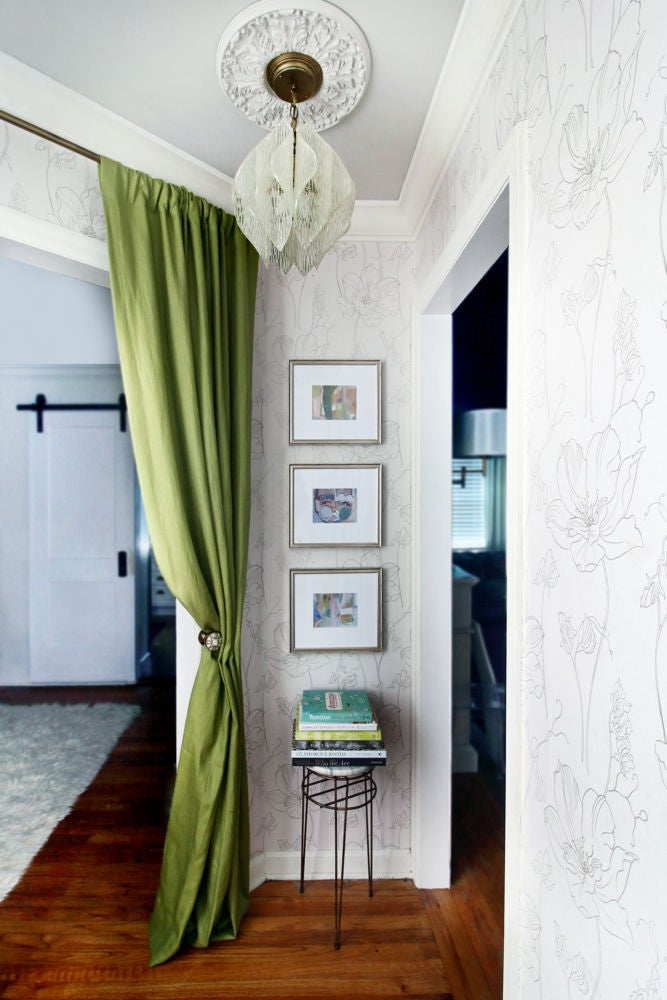 Green and Taupe Gallery Wall