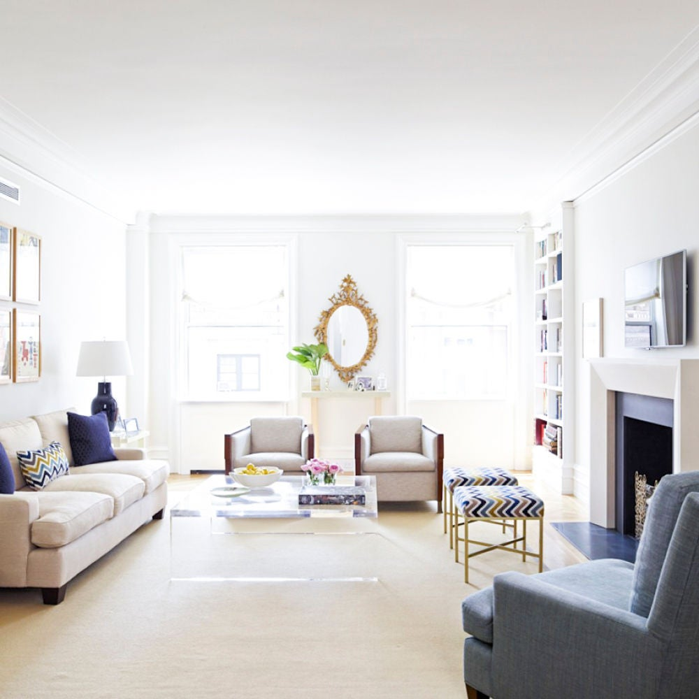 Clear and Taupe Living room
