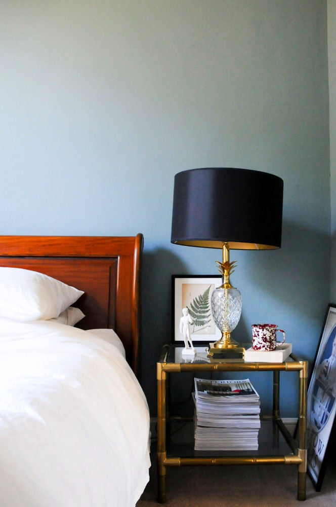Gold and Gray Bedroom