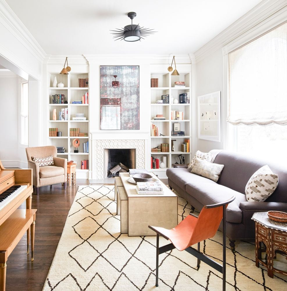 Taupe and White Living room