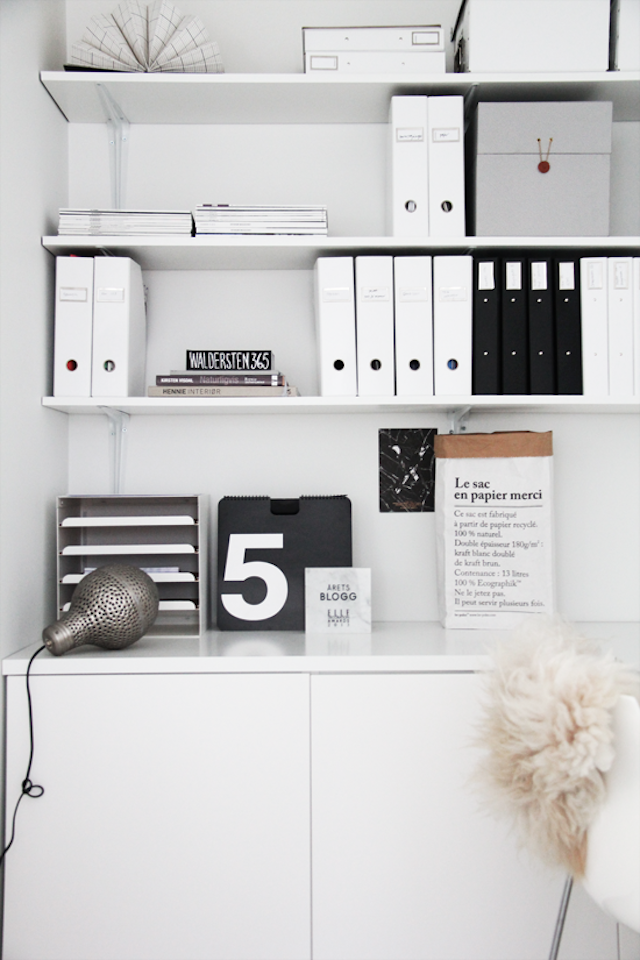 Home Office Organization Tips White Study