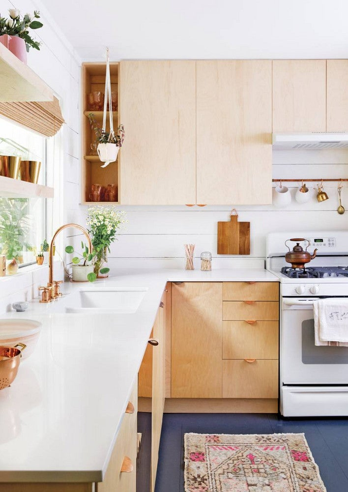 Claire Zinnecker Bronze and White and Wood Kitchen
