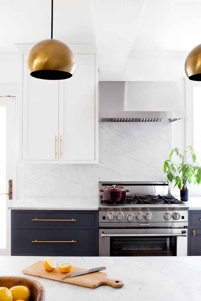 Black and Gold and White Kitchen