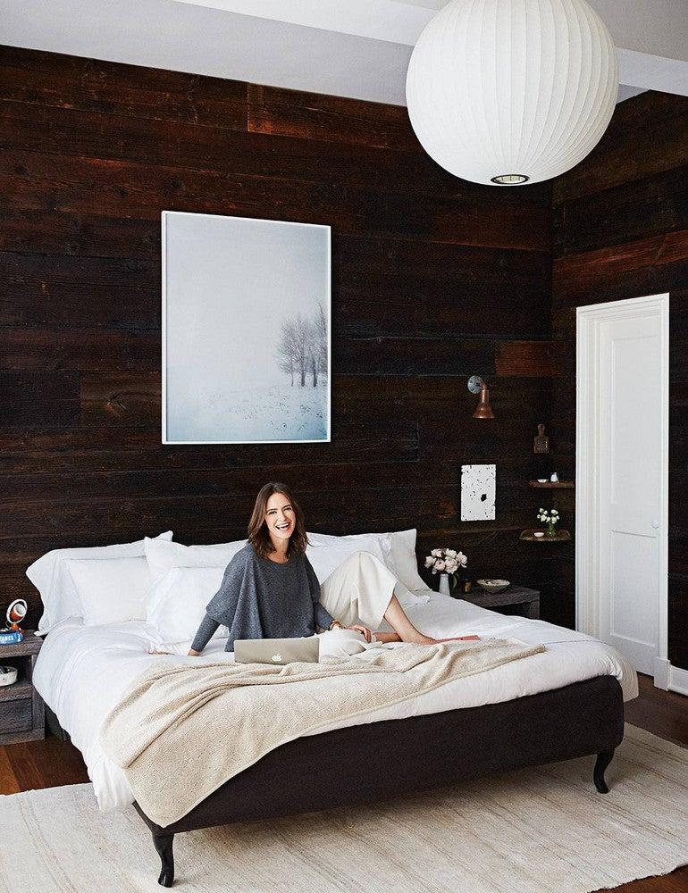 Nadine and Matt Abramcyk Black and White Bedroom