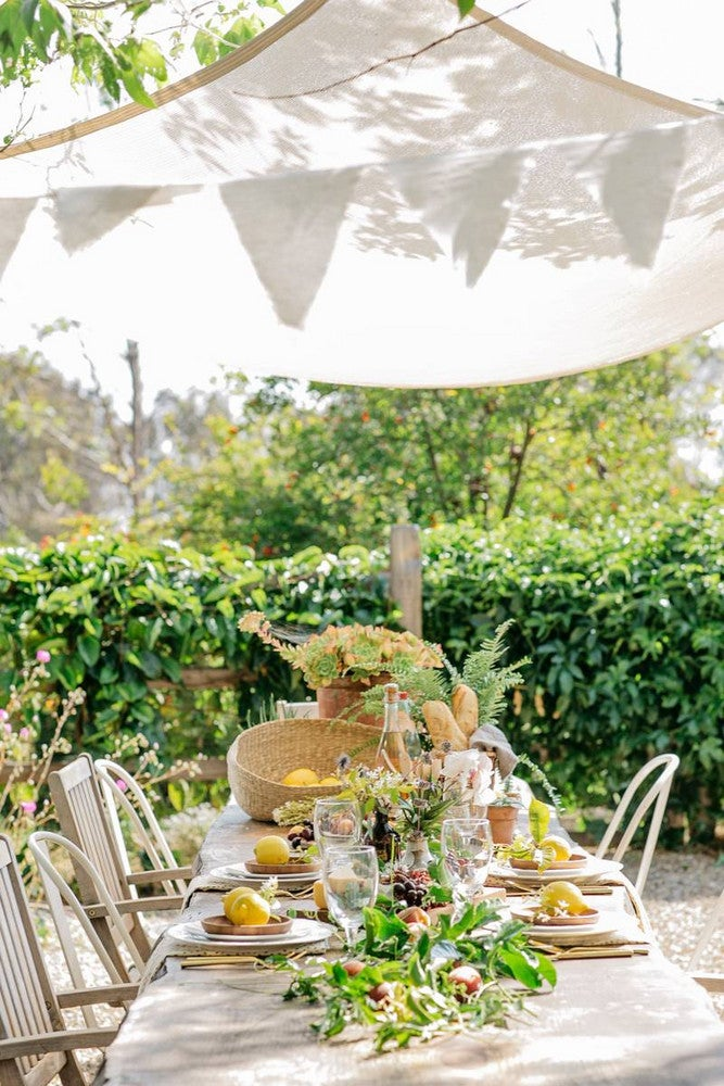 Taupe and White Table Setting